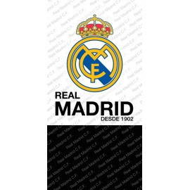 Toalla de playa real Madrid 70x140 cm 100% poliester RM182001