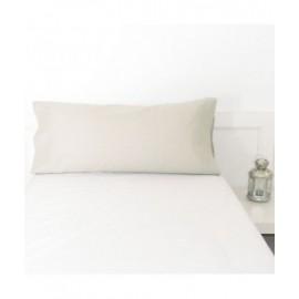 Funda de almohada 100% algodón 45 x 110 color marfil